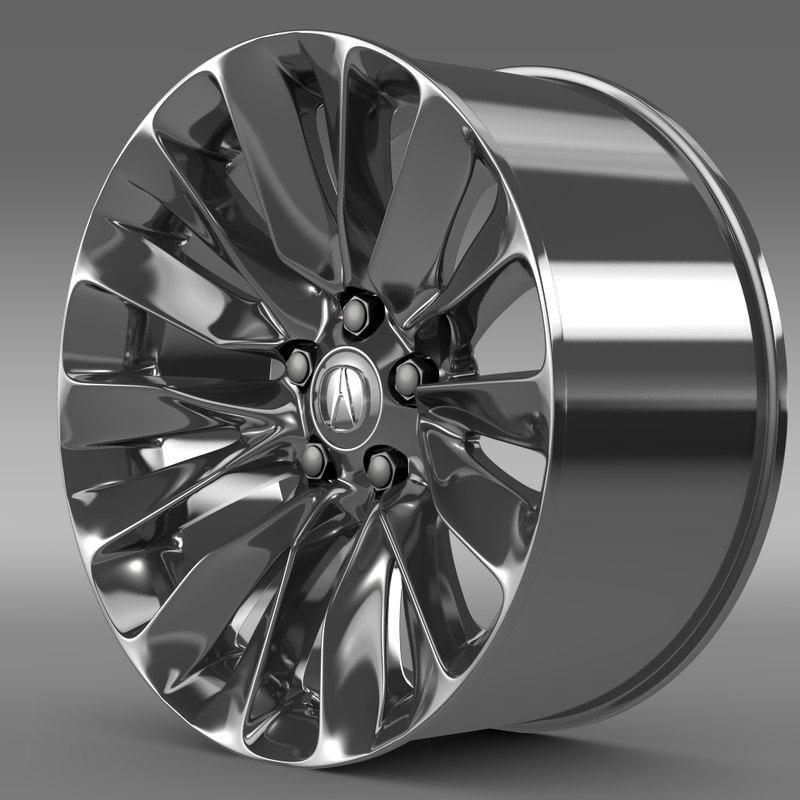 Acura Rlx Rim 3d 3ds