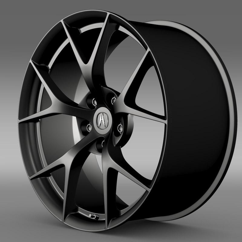 3d Max Acura Nsx Rim 2015
