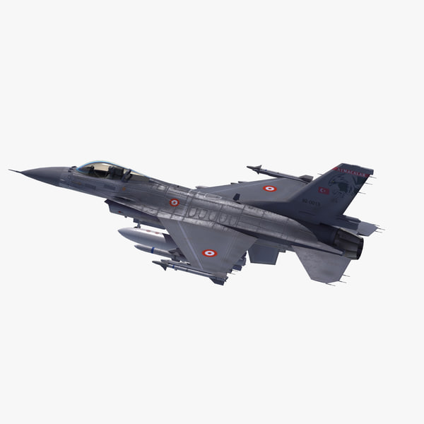 f-16 falcon turkish air force 3d 3ds