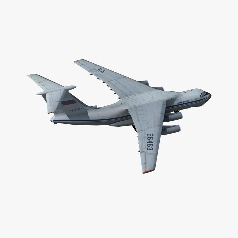 ilyushin transport aircraft candid 3d max