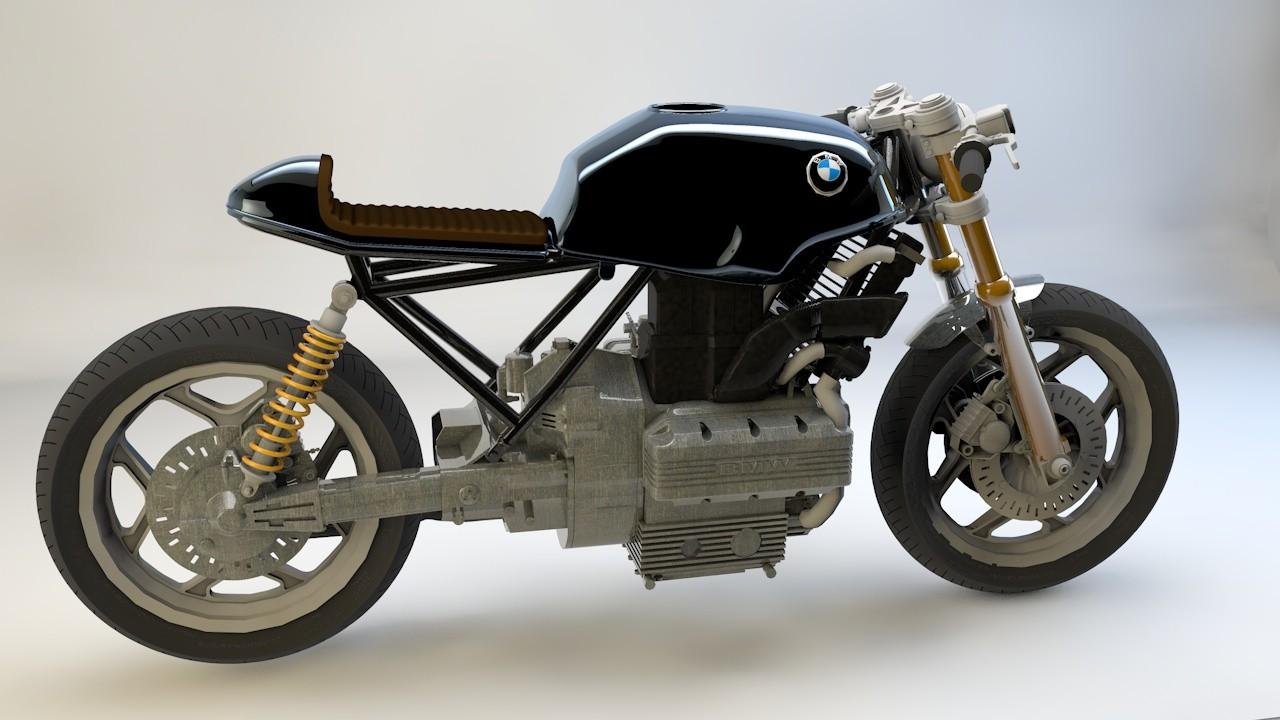 3d model cafe motorbike k75