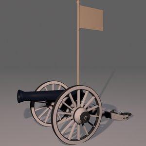 3d napoleonic cannon