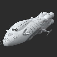 3d model futuristic spaceship