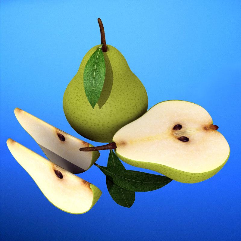 3ds max pear half slice