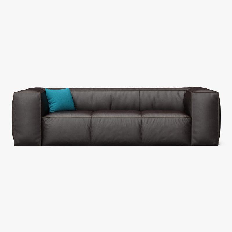 sofa scruffy 3d max