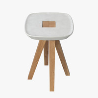 3d realistic ydin tabouret inoow model