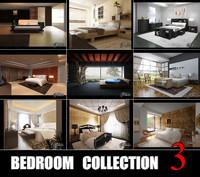bedrooms scenes 3d model