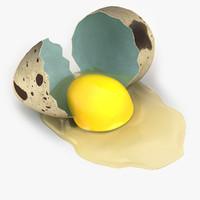 3d quail eggs
