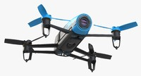 Quadrocopter Parrot Bebop Blue No Bumper