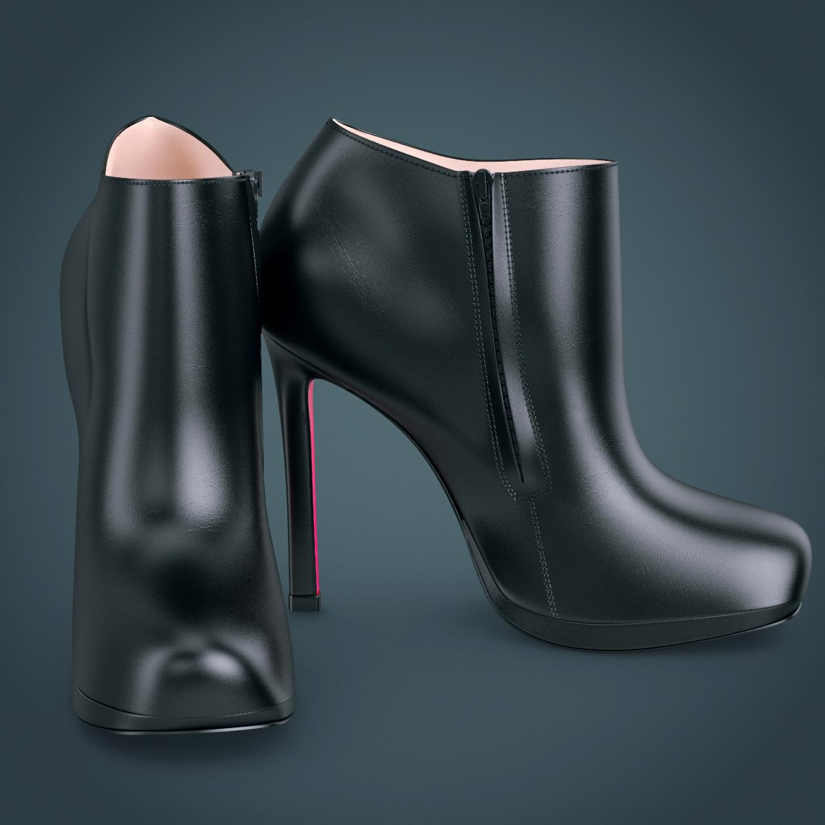 3dsmax shoes louboutin belle