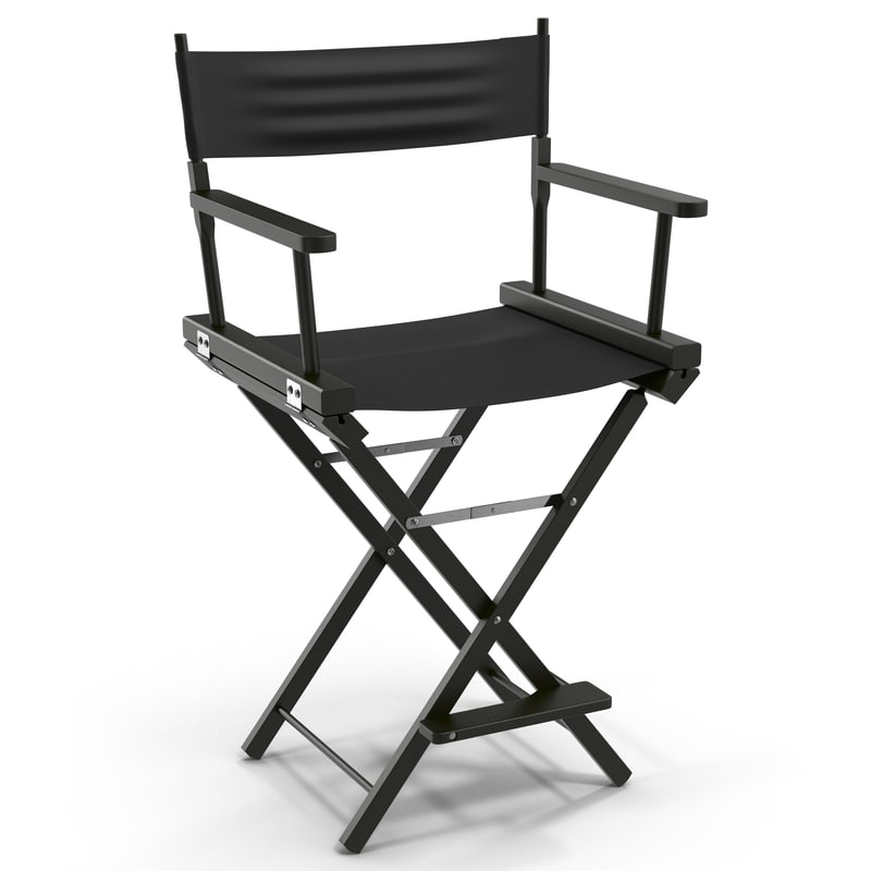 Directors chair png - Max Director Chair 2 Black