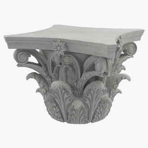 3d model corinthian order column capital