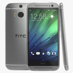 htc m8 white 3d 3ds