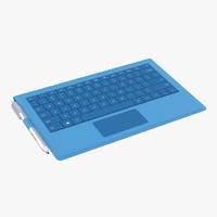 Microsoft Surface Pro 3 Keyboard and Pen 3D Model