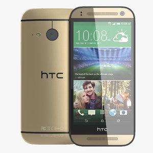htc mini 2 gold 3d max