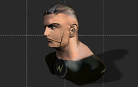 3d model male head character