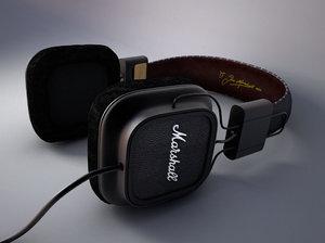 3d modelling marshall headphones model