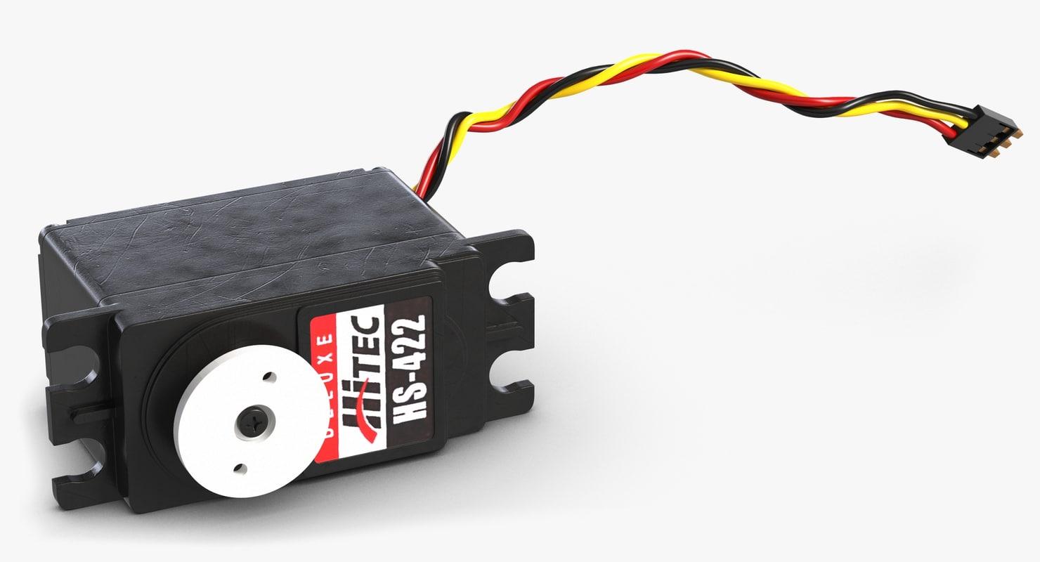 Servo hitec hs422 3d model for Industrial servo motor tutorial