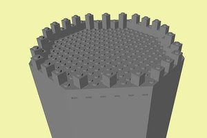 3d model lego large octagonal castle tower