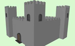 3d model lego castle
