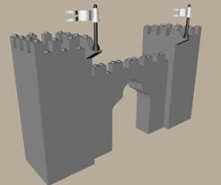 lego castle gate 3d 3ds