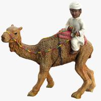 boy camel statue 3d model