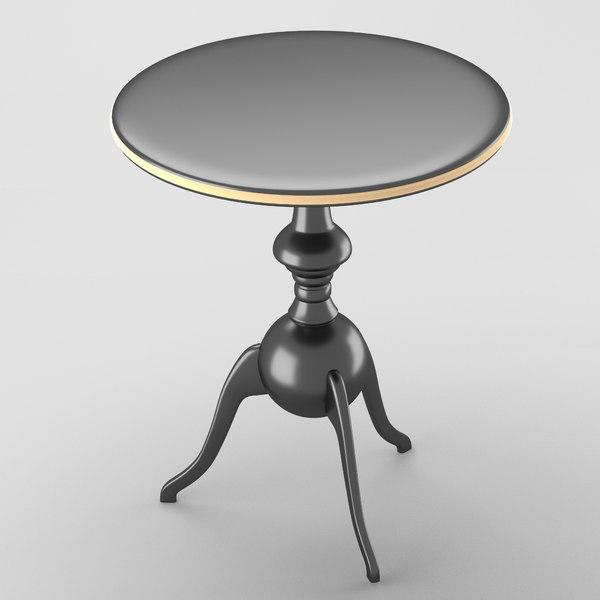 decorative table chrome gold 3d obj