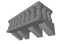 3d lego stone balcony model