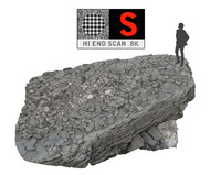 3d model of rock cliff hd 8k