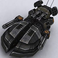 sci-fi hover tank 3d model