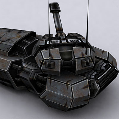 sci-fi tank hover 3ds
