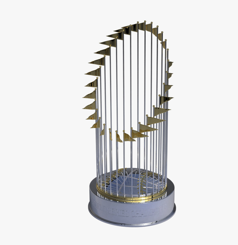 world series baseball trophy 3d max