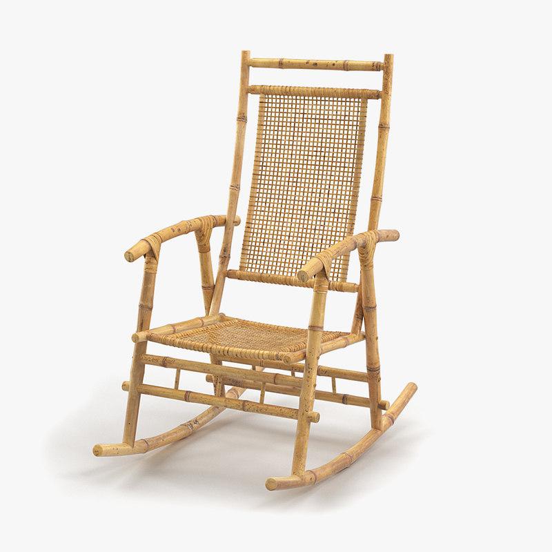 max bamboo rocking chair