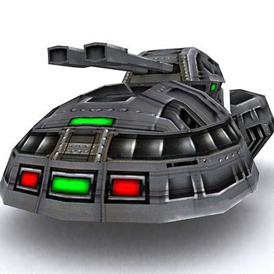 sci-fi hover tank 3d 3ds
