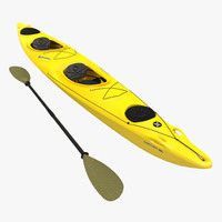 Kayak 2 Yellow with Paddle