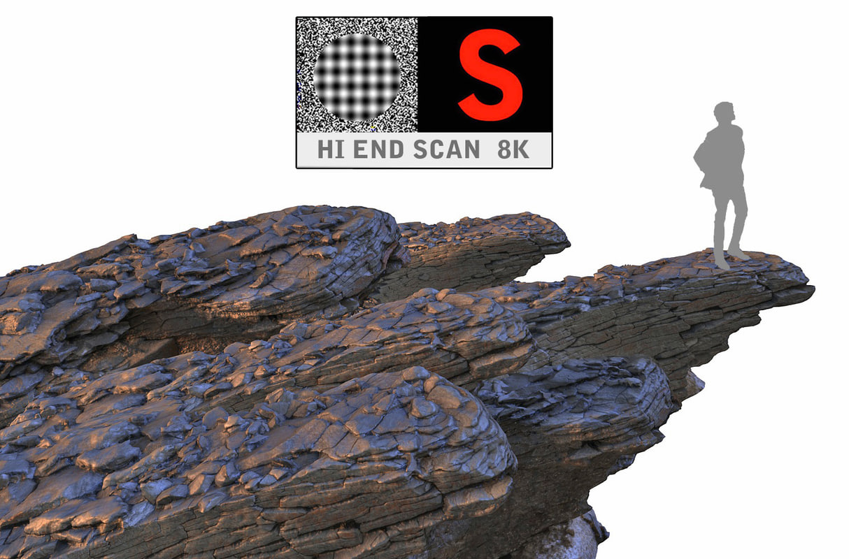 rock cliff hd 8k 3d model