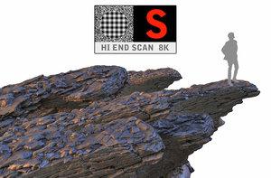 rock cliff hd 8k 3d model