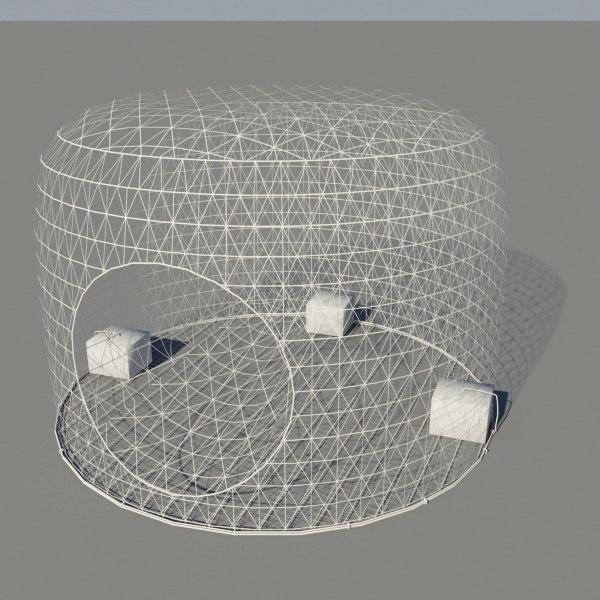 3d bahrain fish trap model