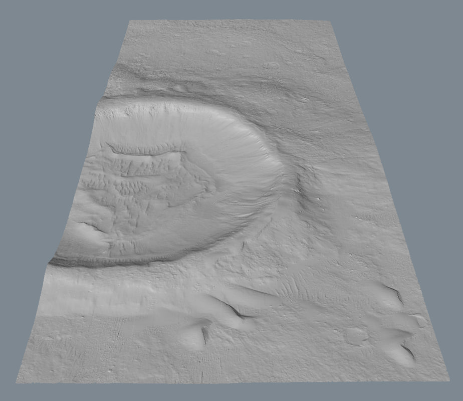 3d model real scan topography
