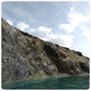 3d scanned rock cliff realistic