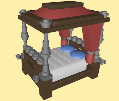 3ds lego poster bed
