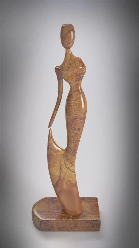 modern female sculpture 1 3d 3ds