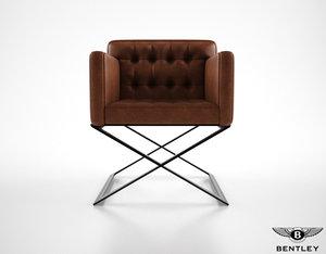 3ds max bentley harlow armchair