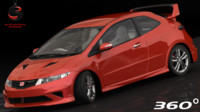 3d honda civic type-r mugen model