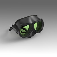 3d scuba mask