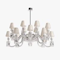 baccarat ellipse chandelier 3d max