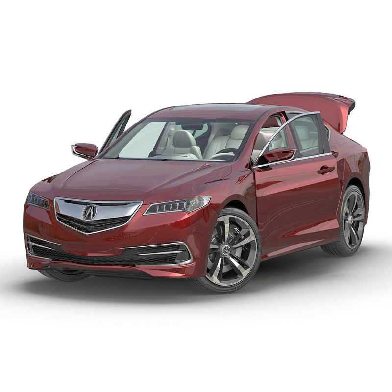 New Acura Tlx: Acura Tlx 2015 Rigged 3d Max