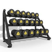 3d model dumbbell rack