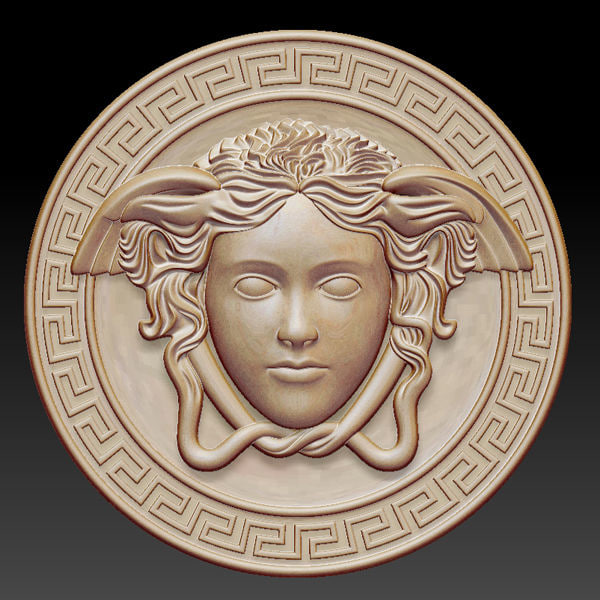 3d gorgon medusa greek sculpture model