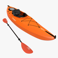 Kayak Orange with Paddle